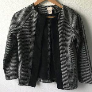 H&M chevron blazer sz 2